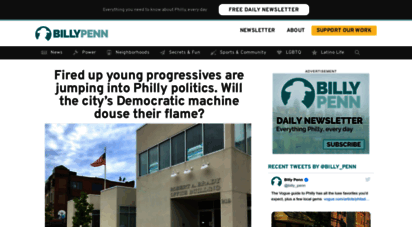 billypenn.com - billy penn: philly´s source for local news, info and things to do