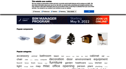 bimcomponents.com - bimcomponents.com — free downloads of 3d bim objects for archicad & other cad software