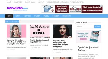 biofamous.com - bio famous  entertainment gossips and biographies