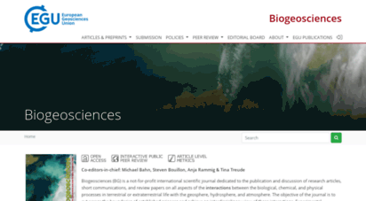biogeosciences.net - bg - home