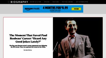 biography.com - biography: historical & celebrity profiles