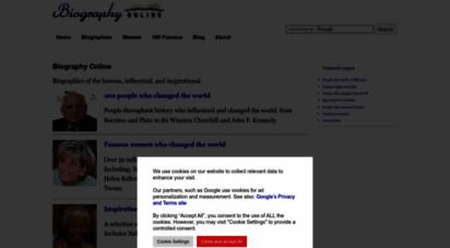 similar web sites like biographyonline.net