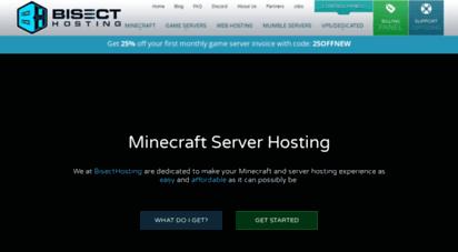 bisecthosting.com - minecraft server hosting - bisecthosting