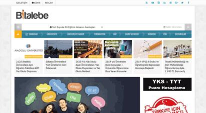 bitalebe.com - bitalebe - üniversite eğitim, bilgi ve haber portalı