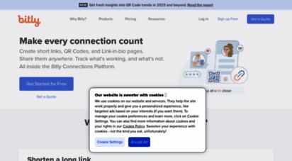bitly.com - bitly url shortener  short urls & custom free link shortener