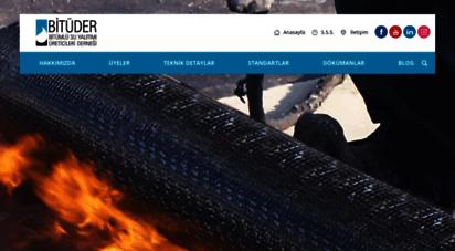 bituder.org - bitüder - bitümlü su yalıtımı üreticileri derneği
