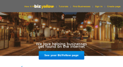Welcome to Bizyellow com - Yellow Pages United Business Webpages