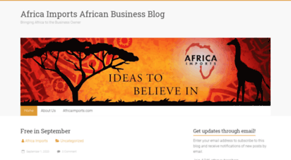 Welcome to Blog africaimports com - Africa Imports African Business