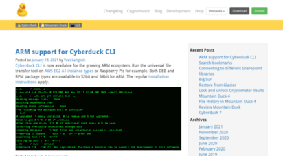 Welcome to Blog cyberduck io - Blog | Libre FTP, SFTP