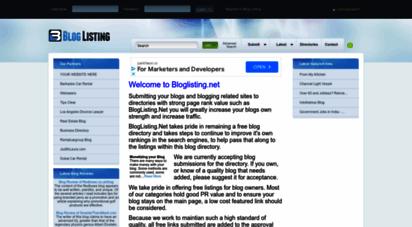 similar web sites like bloglisting.net