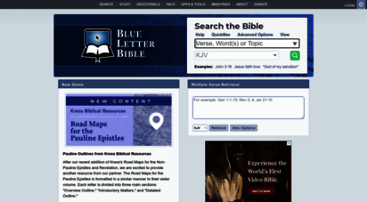 blueletterbible.org - bible search and study tools - blue letter bible