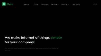 blynk.cc - blynk - iot platform for businesses
