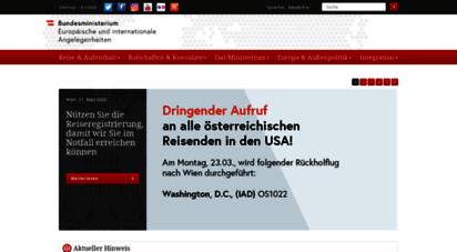 bmeia.gv.at - startseite - bmeia, außenministerium österreich