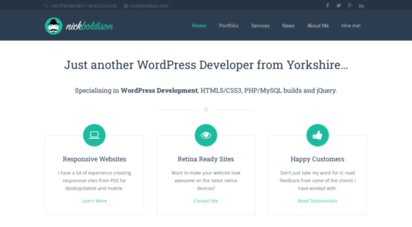 Welcome to Nick boldison com - Freelance WordPress Developer