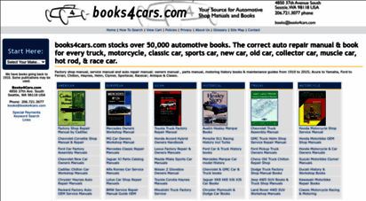 books4cars.com - books4cars.com - every repair manual, service manual, owners manual and book for your car, truck and motorcycle