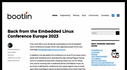 bootlin.com - bootlin - embedded linux and kernel engineering