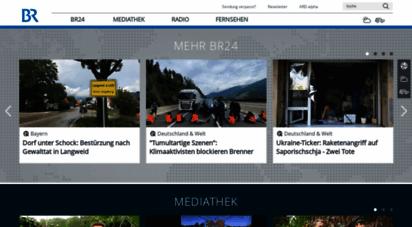 br.de - br  bayerischer rundfunk: naichten von br24, highlights aus der br mediathek, live radio hören und br.de-specials - die startseite für bayern  br.de