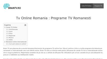 braintv.ro - director tv online : programe romanesti live