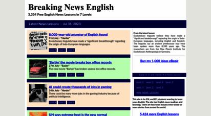 breakingnewsenglish.com - breaking news english lessons: easy english world news materials - esl