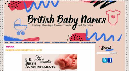 britishbabynames.com - british baby names