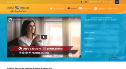 britishinstitute.com.tr - british institute istanbul yabancı dil kursu mecidiyekoy  british institute  0850 532 39 77
