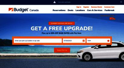 budget.ca - budget rent a car - canada -  your language