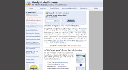 welcome to budgetmath com budgetmath com financial budget