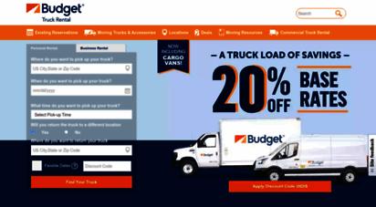 budgettruck.com - moving truck rentals  budget truck rental
