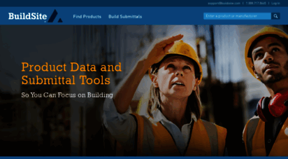 buildsite.com - building material product data - construction submittal tools - buildsite