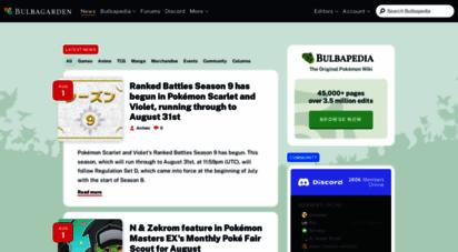 bulbagarden.net - bulbagarden: the original pokémon community