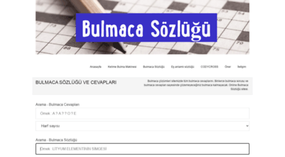 bulmaca-sozlugum.com - bulmaca sözlüğü ve kelime bulucu