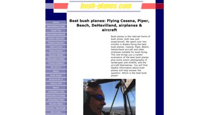 bush-planes.com - best bush planes: flying cessna, piper, beech, dehavilland, airplanes & aircraft
