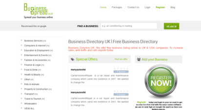 Welcome to Businessspread co uk - Business Directory UK | Free