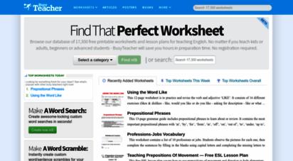 busyteacher.org - busyteacher: free printable worksheets for busy english teachers