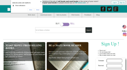 bx-zone.com - online used bookstore  you buy & sell second hand books