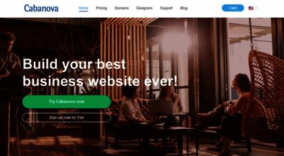 cabanova.com - eigene kostenlose homepage erstellen  homepagebaukasten  html5 homepage i kostenlose firmenhomepage