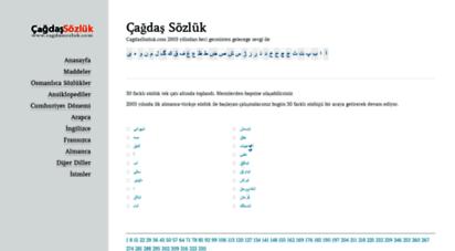 cagdassozluk.com - çağdaş sözlük  çağdaş sözlük çalışmaları
