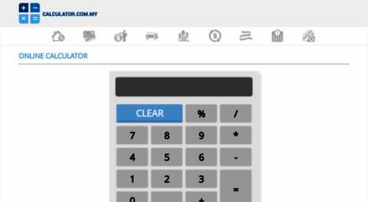 calculator.com.my - online calculator malaysia  calculator.com.my