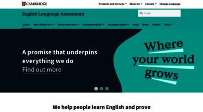 cambridgeenglish.org - cambridge english