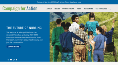 campaignforaction.org - future of nursing: campaign for action homepage  campaign for action