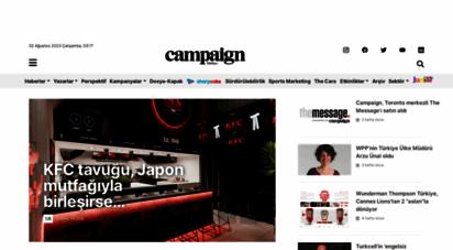 campaigntr.com - campaign türkiye  iletişim dünyasının haber fabrikası