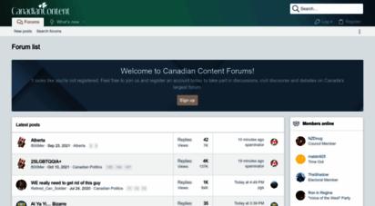 canadiancontent.net - canadian content