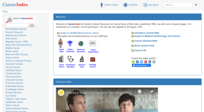 cancerindex.org - cancerindex - home page  cancerindex