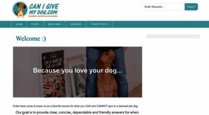 canigivemydog.com - can i give my dog…