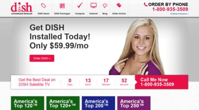 cannonsatellitetv.com - dish network 1 800 935-3509 best national offer