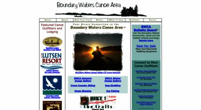 canoecountry.com - bwca - boundary waters canoe area wilderness