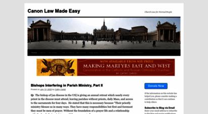 canonlawmadeeasy.com - canon law made easy - church law for normal peoplecanon law made easy  church law for normal people