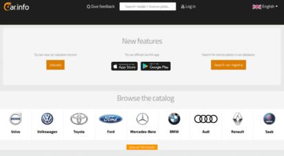 car.info - car.info - sök biluppgifter via registreringsnummer