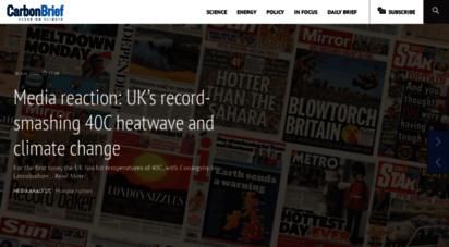 carbonbrief.org - home  carbon brief » clear on climate