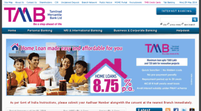 Welcome to Career tmb in - Home - Best Indian Bank Offering